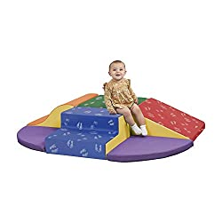 powerful ECR4Kids SoftZone Little Me Foam Wall Climber – Internal structure for active play for toddlers and…