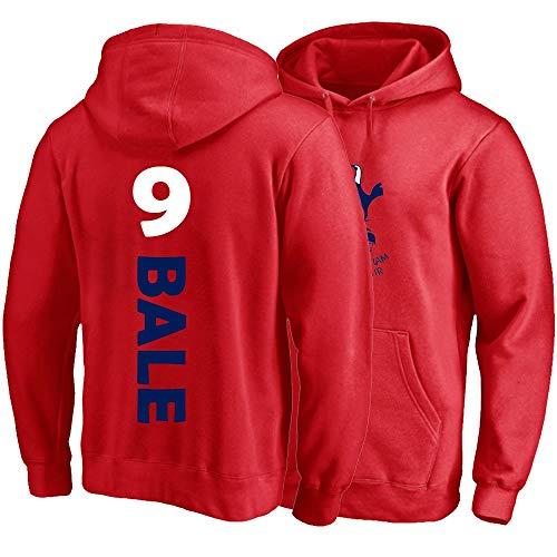 XH Sport Hoodie Gareth Bale # 9 Männer Frauen Kapuze Pullover Trikots Lose Sweatshirts Winterjacke S-3XL (Color : Red, Size : X-Large)