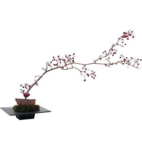 JUSTDOLIFE JUSTDOLFIE Maceta de plástico Diseño de tapa cuadrada Bandeja Ikebana Florero Bonsai Flower Container