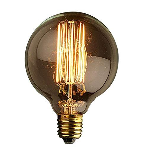 KJLARS Vintage lampadina Edison E27 40W G95 filamento Mini Globo retrò lampadine