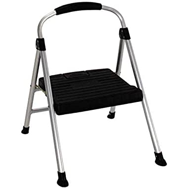 Cosco 11210PBL4 Cosco Signature Series One Step Steel Step Stool with Plastic Steps
