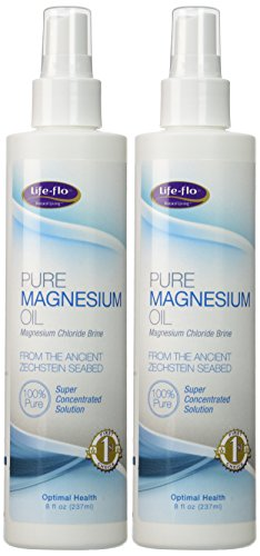 Life-Flo Pure Magnesium Oil | 100% Pure Magnesium Chloride Spray from Ancient Zechstein Seabed | For Relaxing & Rejuvenating Muscles & Joints | 8 oz | 2 pk