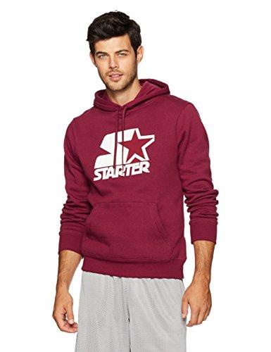 Starter Men's Pullover Logo Hoodie, Amazon Exclusive, Team Maroon, Medium