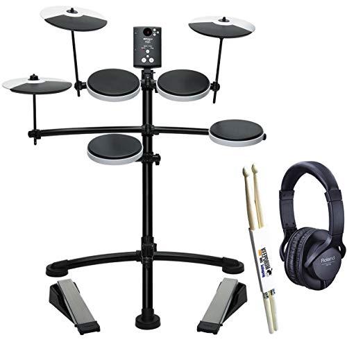 Roland TD-1K E-Drum Schlagzeug + RH-5 Kopfhörer + keepdrum Drumsticks 1 Paar
