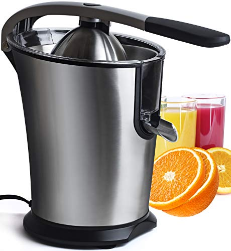 Electric Citrus Juicer Fruit Machines - Stainless Steal Electric Citrus Jucers Machine Fruit Squeezer Orange Lemon Lime Electric Citrus Juicers Extractor With Anti - Drip Citrus Press 160 Watt Motor