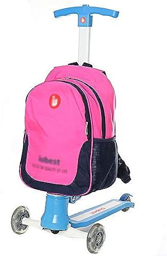 WSGZH Neue Roller Trolley Bag Jungen Und mädchen Au belastung Umh etasche Einfarbig Kinder Rucksack Kinder Hohe Qualität Rucksack