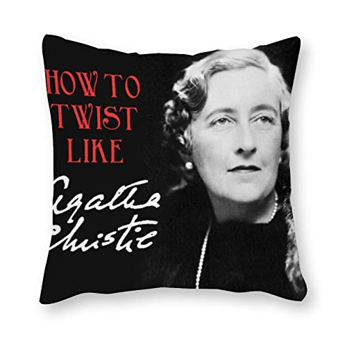 Agatha Christie - Almohada de cojín (40 x 40 cm), diseño de arte pop