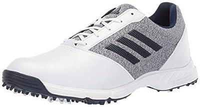 adidas Womens TECH Response Golf Shoe, White/Silver Metallic/Indigo, 5 M US