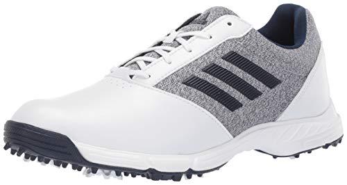 adidas Tech Response Damen-Golfschuh, Wei (Weiß/Silber Metallic/Indigo), 41 EU