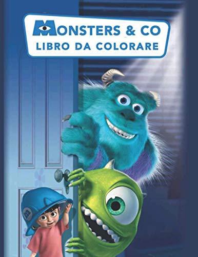 Monsters & Co libro da colorare: Regalo di Natale perfetto con carta di alta qualità per gli amanti di Monsters & Co, ideale per bambini, bambini e adulti