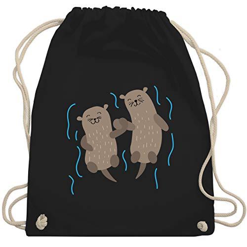 Sonstige Tiere - Süße Otter - Unisize - Schwarz - otter - WM110 - Turnbeutel und Stoffbeutel aus Baumwolle