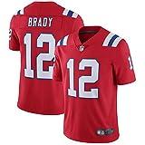 OUOT Patriots Brady 12# Maillot de Rugby pour Homme T-Shirts Sweatshirt, Occasions applicables Hommes-Athlète Entraînement de compétition en Plein air Cadeau en Fibre de Polyester à séchage