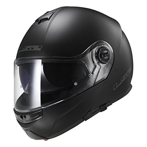 LS2 Helmets Modular Strobe Helmet (Matte Black - Large)