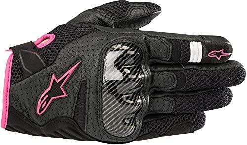 Alpinestars Motorradhandschuhe Stella Smx-1 Air V2 Gloves Black Fuchsia, Schwarz/Fuchsia, XS