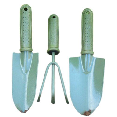Lot de 3 Creative jardinage cour Pelle/bêche/Râteau Jardin outils de fournitures