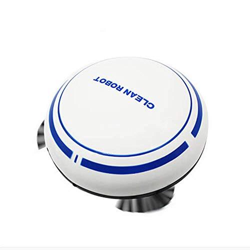 LTLJX Robot Aspirador de 6,5 cm Delgado contra la caída de Pelo del Animal doméstico de Carga, Pisos Duros, alfombras Medio-Pile, White USB LUDEQUAN (Color : White)