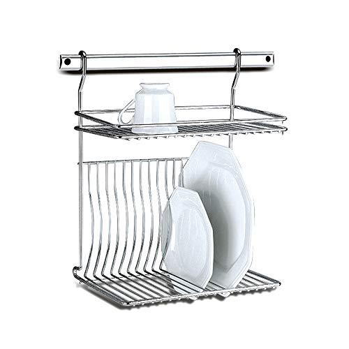 Escorredor de Pratos Capacidade para 16 pratos Barras Top Pratic, 33 x 23 x 40 cm, Aço Inox, Brinox