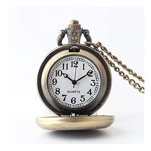 Reloj de bolsillo elegante clásico.Reloj de bolsillo y cadena de relojes de bolsillo, Cuarzo de parche del patrón del círculo mágico de la vendimia, como el Día del Padre / Regalo / Aniversario / Navi