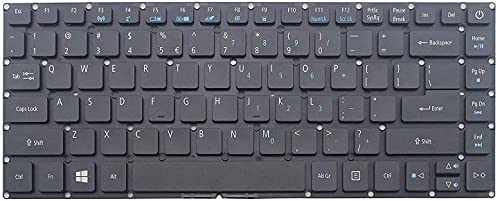 ZGQA-GQA Teclado de computadora portátil Nuevo Teclado de computadora portátil en inglés Negro de EE. UU. (Sin reposamanos) para Acer Aspire A114-31 A314-31 A114-32 A314-32