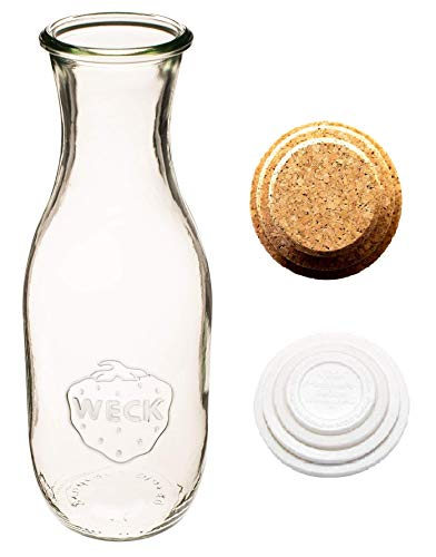 Weck Juice Jar  with Cork Lids and Keep Fresh Covers (1 Set)