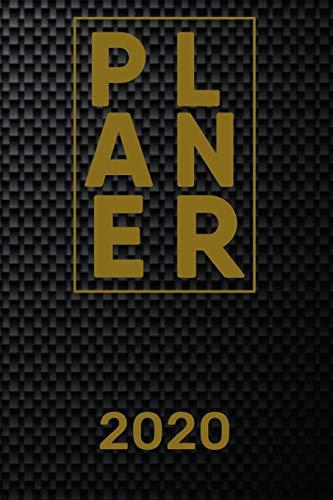 Planer 2020: Einfacher Monatsplaner I Familienplaner I Planer Din A5 120 Seiten I 2020 I Wochenplaner I Taschenkalender 2020 I Terminkalender Und ... Carbon I Kohlenstofffaser I Kohlefaser I Cfk
