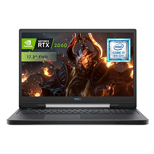 LAPTOP GAMING DELL G7 17.3″, GEFORCE RTX 2060,  CORE i7 8 Gen. RAM 16GB, 1TB DD + 256SSD NEGRO…