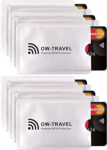 Bloqueo RFID - ANTI FRAUDE - Protectores Funda para Tarjetas de Credito Débito Sanitaria Identificaciones - Protector Pasaporte - Protección 100% de RFID NFC (Fundas para Tarjeta de Credito)