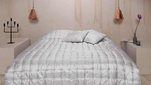 Damai sprei Versailles 270 x 270 Glacier polyester satijn/vulling polyester