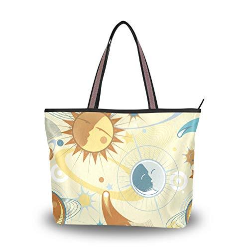 NaiiaN Bolso de mano, bolsos de hombro para madres, mujeres, niñas, estudiantes, monedero con patrón de hierba dorada, bolsos de compras, correa liviana