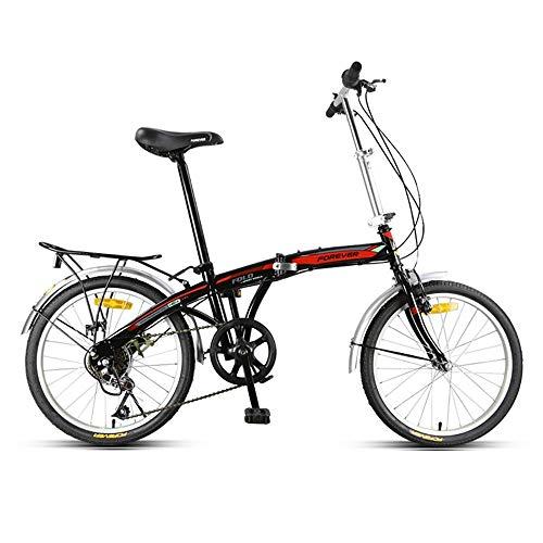MTTKTTBD Portable Faltrad, First Class Klappfahrrad mit Doppelscheibenbremse,Unisex Leicht Folding City Bike Klapprad für Stadtreiten und Pendeln,20 Zoll Rad,Klapprad mit Quick-Fold-System