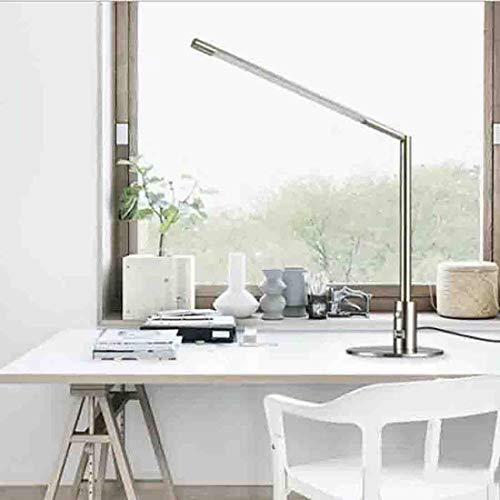 JIAWEI tafellamp met lange arm, verstelbaar, LED-licht, energiebesparend, leeslamp in de slaapkamer, 3 verlichtingsmodi voor continu licht, met USB-interface