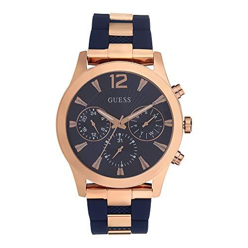 Guess Quartz blauwe wijzerplaat dames horloge W1294L2