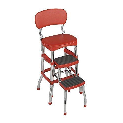 Cosco 2-step Stool | 3 Ft. Aluminum 225 Lb. Load Capacity Retro Chair by Cosco