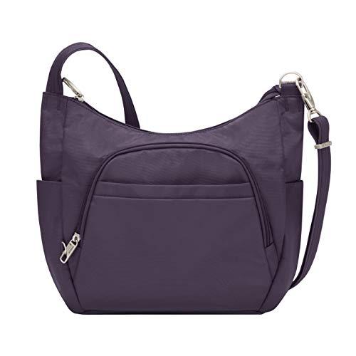"Travelon Anti-Theft Cross-Body Bucket Bag, Purple, 14"" X 11.5"" X 3"""
