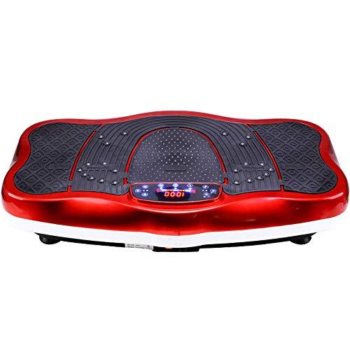 Plataformas vibratorias Vibration Plate Fitness Trainers, 3D Slim Vibrating Power Machine, con control remoto, música Bluetooth, ajuste de velocidad 1-99, para adelgazar y tonificar el cuerpo, rojo