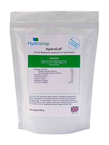Hydroponics/Coco Calmag Additive - Water Soluble Veg Grow Booster Calcium Magnesium Plant Nutrient Supplement (1.5kg HydroCal)
