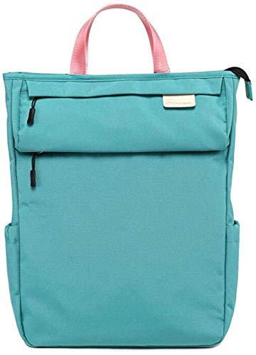 Etyybb Bolsas de pañales Gran capacidad con bolsillo antirrobo Llavero Llavero Bolsa de pañales Mochila-verde azul_Grande