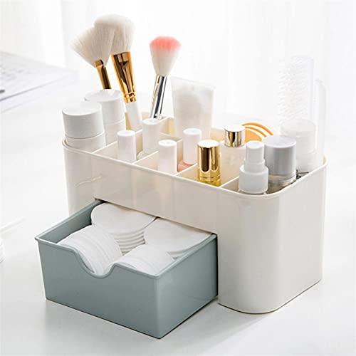 Caja de almacenamiento de joyería de moda y elegan Caja de plástico de maquillaje Organizador Cosméticos Almacenamiento Contenedor Lápiz labial Portátil Organizador de joyería Estuche de belleza con c