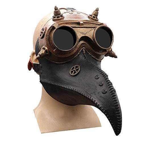 Forart Pest Doktor Vogel Maske lange Nase Schnabel Cosplay Steampunk Halloween Kostüm Zubehör Maskerade Party Kostüm Maske