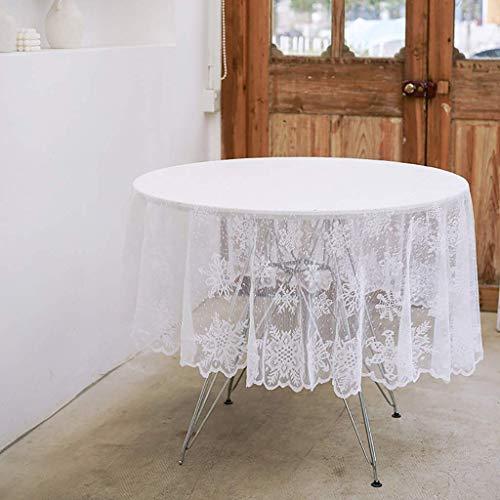 Elegante y lujoso Casa Café Casa Blanco Cubiertas Cubiertas de mesa de comedor Decoración de mesa Cuarto cuadrado redondo Mantel rectangular para boda Baby Shower Fiesta de cumpleaños Prop Supplies Ho