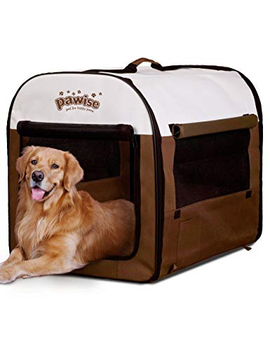 PAWISE Folding Portable Soft Dog Crate Pet Kennel Houses Cat Samll Animal Tent Indoor & Outdoor Use,...