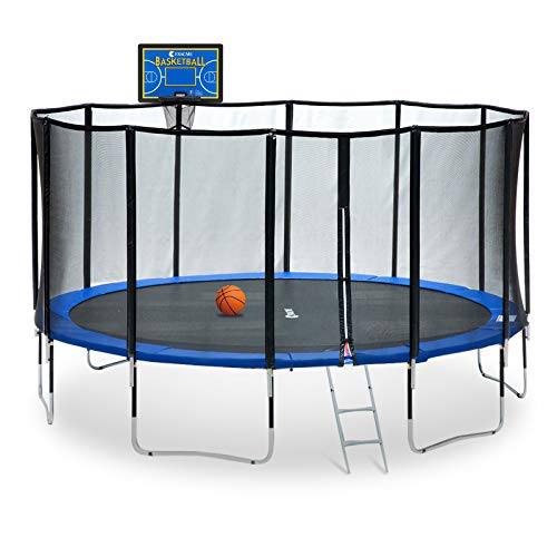 Exacme 15 Foot Outdoor Round Trampoline 400 LBS Weight Limit with...