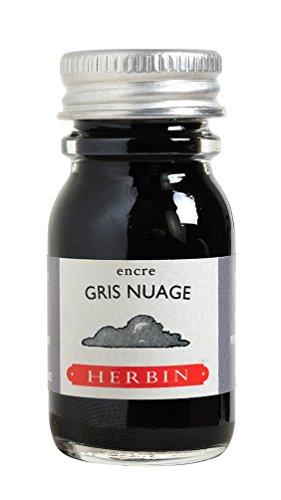 J.Herbin 11508T (1 Tinteflakon 10 ml für Füller) rauchgrau