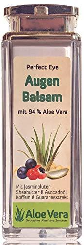 Augenbalsam mit Hyaluronsäure, Koffein & Guaranextrakt und 94% Aloe Vera (1 x 30 ml)