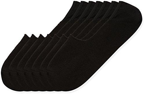 Marca Amazon - find. Calcetines Hombre, Pack de 7, Negro (Schwarz), 44-47 EU, Label: 10-12 UK