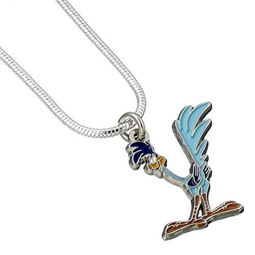 Offizielle Looney Tunes Silber überzogene Road Runner Halskette Anhänger
