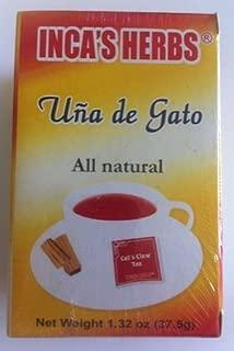 Inca's Herb Uña De Gato (Cat's Claw Tea) Single Box 1.32oz - Product of Peru