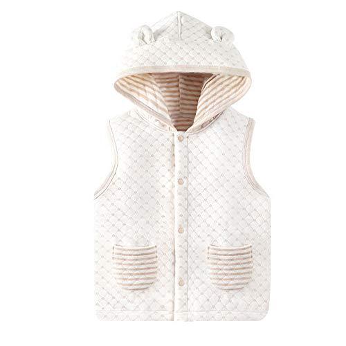 Pessica Baby Warm Vest, Winterjas voor kinderen, comfortabele hoed, veilig en gezond - geschikt voor kinderen van 80-130 cm in hoogte