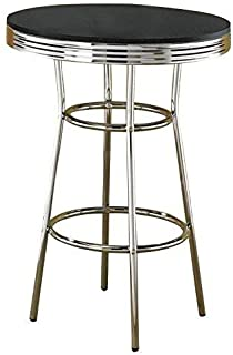 Cleveland 50's Soda Fountain Bar Table Black and Chrome