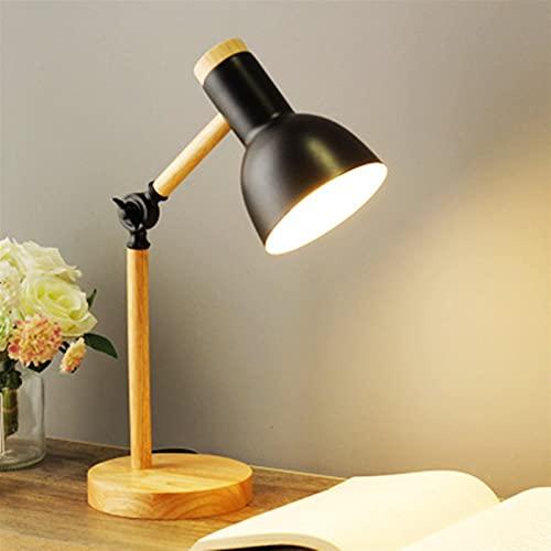 Lámpara de Escritorio Hierro de arte de madera nórdico creativo DIRIGIÓ Lámpara de escritorio simple plegable protección de la mesa de la mesa de la mesa de la mesa de la sala de estar decoración del
